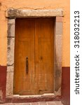 Colonial Wooden Door Entry To...