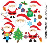 santa claus vector illustration | Shutterstock .eps vector #318040367