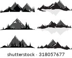 various vector illustrations of ... | Shutterstock .eps vector #318057677