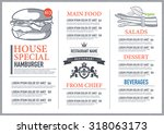 hipster restaurant menu design | Shutterstock .eps vector #318063173