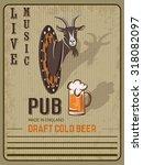 retro beer illustration poster... | Shutterstock . vector #318082097