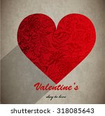 vector abstract floral heart | Shutterstock .eps vector #318085643