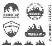 set of vintage logo  emblem ... | Shutterstock .eps vector #318115073