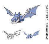 robot bat cartoon character... | Shutterstock .eps vector #318116543