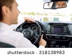 involved in driving. pleasant... | Shutterstock . vector #318138983