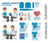 medical checkup infographics | Shutterstock .eps vector #318143387