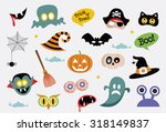 halloween icons | Shutterstock .eps vector #318149837