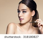 young pretty woman with... | Shutterstock . vector #318180827