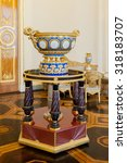 Small photo of SAINT PETERSBURG, RUSSIA - SEP 18, 2015: View inside of the State Russian Museum (the Russian Museum of His Imperial Majesty Alexander III) .