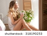 Happy Woman At The Window.the...