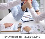 image of business partners... | Shutterstock . vector #318192347