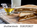 sandwich with honey  peanut... | Shutterstock . vector #318192827