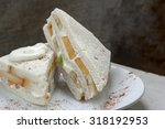 sweet sandwich with fresh cream ... | Shutterstock . vector #318192953