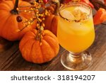 orange drink on fall background ... | Shutterstock . vector #318194207