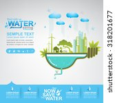 save the water vector | Shutterstock .eps vector #318201677