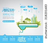 save the water vector | Shutterstock .eps vector #318201683