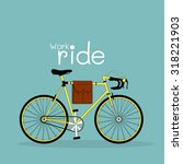 vector bicycle illustration... | Shutterstock .eps vector #318221903