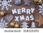 white letters with word merry... | Shutterstock . vector #318225293