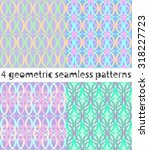 seamless geometric patterns... | Shutterstock .eps vector #318227723
