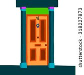 vector cartoon abstract door...