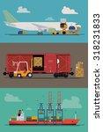 vector freight logistics and... | Shutterstock .eps vector #318231833