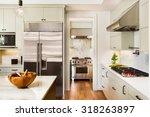 beautiful kitchen interior with ... | Shutterstock . vector #318263897