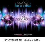 disco club flyer template for... | Shutterstock .eps vector #318264353