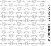 seamless pattern of elegant... | Shutterstock . vector #318267077