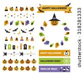 set of halloween decoration | Shutterstock .eps vector #318281333