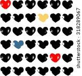 grunge hearts vector     Shutterstock .eps vector #318289067