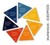 circle hexagon infographic...   Shutterstock .eps vector #318299333