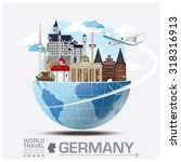 germany landmark global travel... | Shutterstock .eps vector #318316913