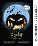 vector illustration. halloween... | Shutterstock .eps vector #318318677
