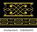 golden ornamental segment  ... | Shutterstock . vector #318346343
