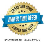 limited time offer 3d gold... | Shutterstock .eps vector #318359477