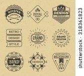 grunge hipster retro design... | Shutterstock .eps vector #318361823