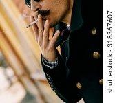 autumn. cigarette  vintage....   Shutterstock . vector #318367607