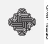 twisted lines  vector element ... | Shutterstock .eps vector #318370847