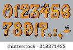 spooky halloween font number... | Shutterstock .eps vector #318371423