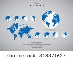 world map. vector | Shutterstock .eps vector #318371627
