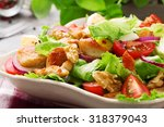 delicious salad with chicken ... | Shutterstock . vector #318379043