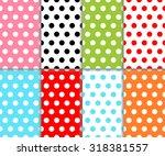 Set Of Abstract Colorful Polka...
