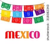 mexico. multicolored template... | Shutterstock . vector #318382343