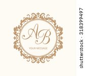 elegant floral monogram design... | Shutterstock . vector #318399497