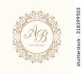 elegant floral monogram design... | Shutterstock . vector #318399503