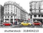 Street In Paris. Digital...