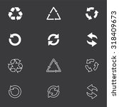 arrow icon set or recycle... | Shutterstock .eps vector #318409673