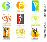 set of acrobatics logos. set of ... | Shutterstock .eps vector #318410387