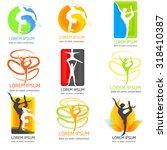 set of acrobatics logos. set of ... | Shutterstock .eps vector #318410387
