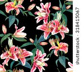 seamless floral pattern of... | Shutterstock . vector #318415067